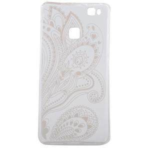 Ultratenký gelový obal na Huawei P9 Lite - elegantní květiny - 4