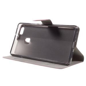 Horse PU kožené pouzdro na mobil Huawei P9 Lite - rose - 4