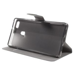 Horse PU kožené pouzdro na mobil Huawei P9 Lite - černé - 4
