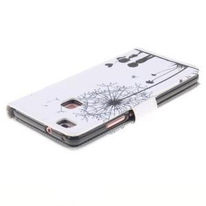 Knížkové PU kožené pouzdro na Huawei P9 Lite - láska - 4