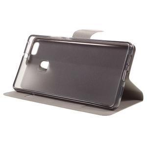 Horse PU kožené pouzdro na mobil Huawei P9 Lite - hnědé - 4