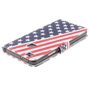 Knížkové PU kožené pouzdro na Huawei P9 Lite - US vlajka - 4