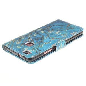 Floaty peněženkové pouzdro na mobil Huawei P9 Lite - kvetoucí strom - 4