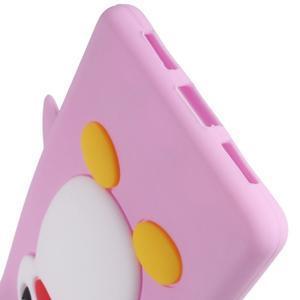 Silikonový obal na mobil Huawei P9 Lite - růžový - 4