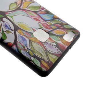 Softy gelový obal na mobil Huawei P9 Lite - barevný strom - 4
