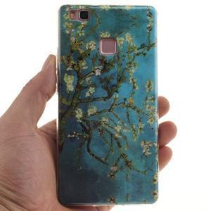 Gelový obal na Huawei P9 Lite - kvetoucí strom - 4