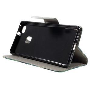 Richi PU kožené pouzdro na Huawei P9 Lite - kamufláž - 4