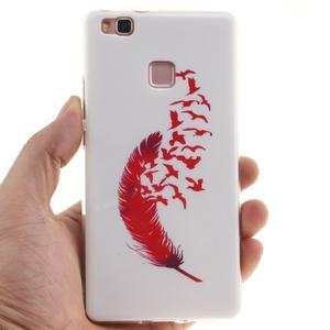 Gelový obal na Huawei P9 Lite - ptačí peříčko - 4