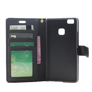 Croco peněženkové pouzdro na mobil Huawei P9 Lite - černé - 4