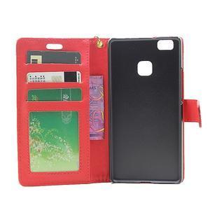 Croco peněženkové pouzdro na mobil Huawei P9 Lite - červené - 4