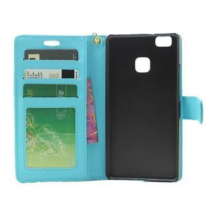 Croco peněženkové pouzdro na mobil Huawei P9 Lite - modré - 4