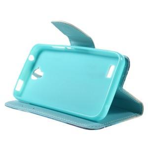Emotive PU kožené pouzdro na Huawei Y5 - modrý motýl - 4