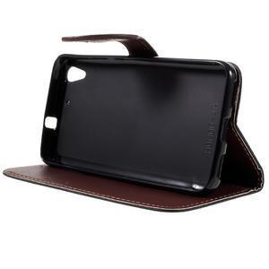 Leaf PU kožené pouzdro na mobil Huawei Y6 - černé - 4