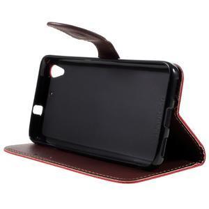 Leaf PU kožené pouzdro na mobil Huawei Y6 - červené - 4