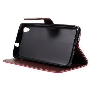 Leaf PU kožené pouzdro na mobil Huawei Y6 - rose - 4