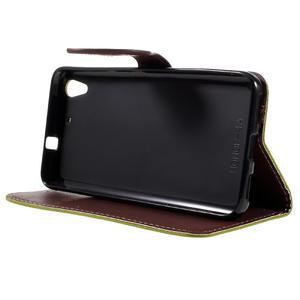 Leaf PU kožené pouzdro na mobil Huawei Y6 - zelené - 4