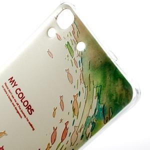 Softy gelový obal na mobil Huawei Y6 - ryby - 4