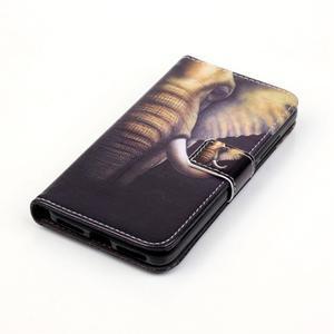 Knížkové pouzdro na mobil Huawei Y6 Pro - slon - 4