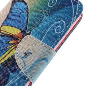 Emotive peňaženkové puzdro na mobil Huawei Y6 Pro - modrý motýľ - 4