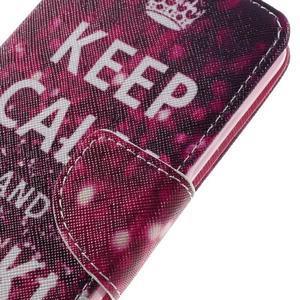 Emotive peněženkové pouzdro na mobil Huawei Y6 Pro - Keep Calm - 4
