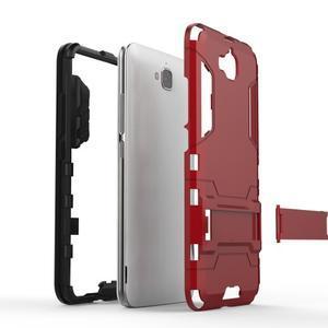 Outdoor odolný obal na mobil Huawei Y6 Pro - šedomodrý - 4