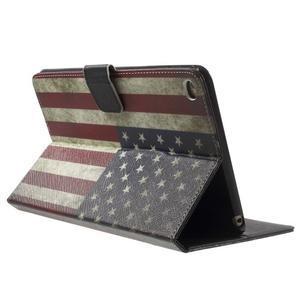 Stylové pouzdro na iPad mini 4 - US vlajka - 4