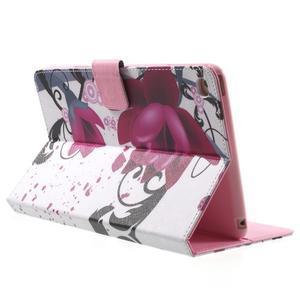 Stylové pouzdro na iPad mini 4 - fialový květ - 4