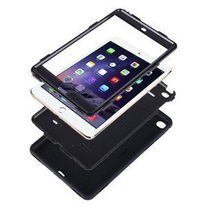 Vysoce odolný silikonový obal na tablet iPad mini 4 - oranžový/šedý - 4