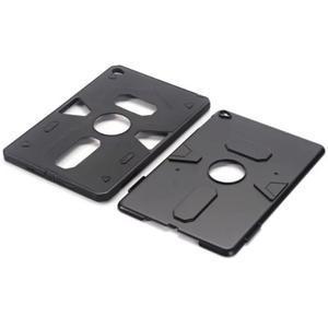 Outdoor dvoudílný gelový/plastový obal na iPad mini 4 - černý - 4