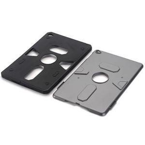 Outdoor dvoudílný gelový/plastový obal na iPad mini 4 - stříbrný - 4
