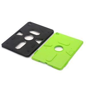 Outdoor dvoudílný gelový/plastový obal na iPad mini 4 - zelený - 4
