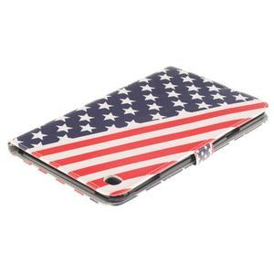Standy pouzdro na tablet iPad mini 4 - US vlajka - 4