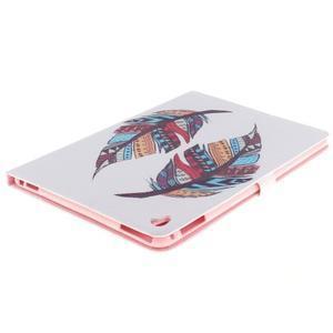 Knížkové pouzdro na tablet iPad Pro 9.7 - barevní peříčka - 4