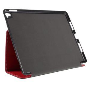 Clothy PU textilní pouzdro na iPad Pro 9.7 - červené - 4