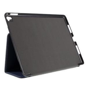 Clothy PU textilní pouzdro na iPad Pro 9.7 - tmavěmodré - 4
