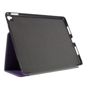 Clothy PU kožené pouzdro na iPad Pro 9.7 - fialové - 4