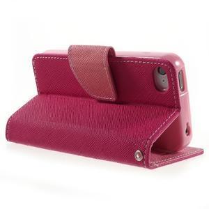 Fancys PU kožené pouzdro na iPhone 4 - rose - 4