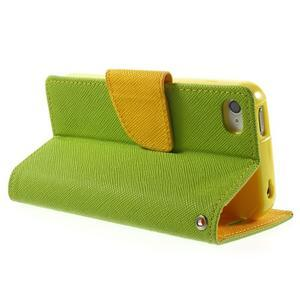 Fancys PU kožené pouzdro na iPhone 4 - zelené - 4