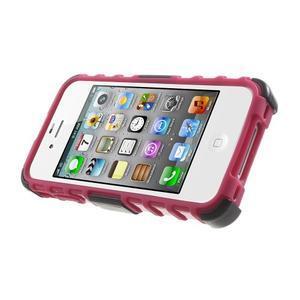 Outdoor odolný obal na mobil iPhone 4 - rose - 4