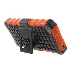 Outdoor odolný obal na mobil iPhone 4 - oranžový - 4