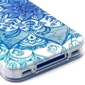 Emotive gelový obal na mobil iPhone 4 - modrá mandala - 4