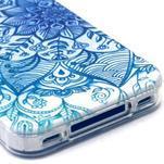 Emotive gelový obal na mobil iPhone 4 - modrá mandala - 4/4