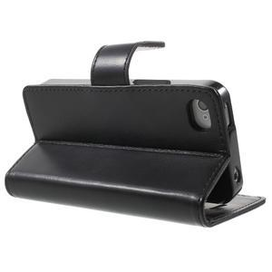 Moon PU kožené pouzdro na mobil iPhone 4 - černé - 4