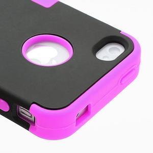 Extreme odolný kryt 3v1 na mobil iPhone 4 - fialovorůžový - 4