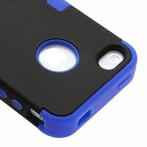 Extreme odolný kryt 3v1 na mobil iPhone 4 - modrý - 4