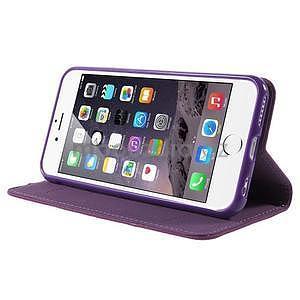 Klopové pouzdro na iPhone 6 a iPhone 6s - fialové - 4