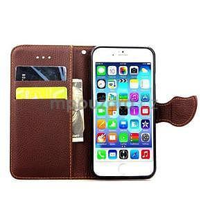 PU kožené peněženkové pouzdro pro iPhone 6s a 6 - zelené - 4