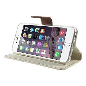 Peněženkové koženkové pouzdro na iPhone 6s a 6 - bílé - 4