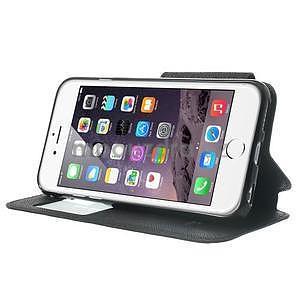 Peněženkové pouzdro s okýnkem na iPhone 6 a 6s - černé - 4