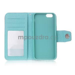 Dvoubarevné peněženkové pouzdro pro iPhone 6 a iPhone 6s - rose/cyan - 4